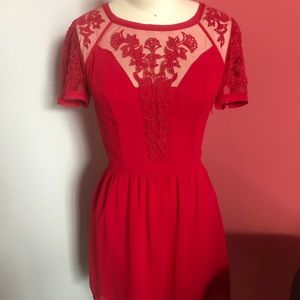Red dress from Urban Outfitters